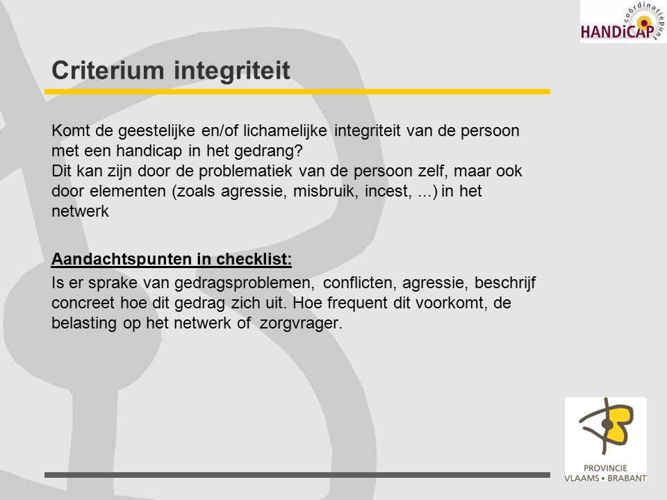 Criterium integriteit