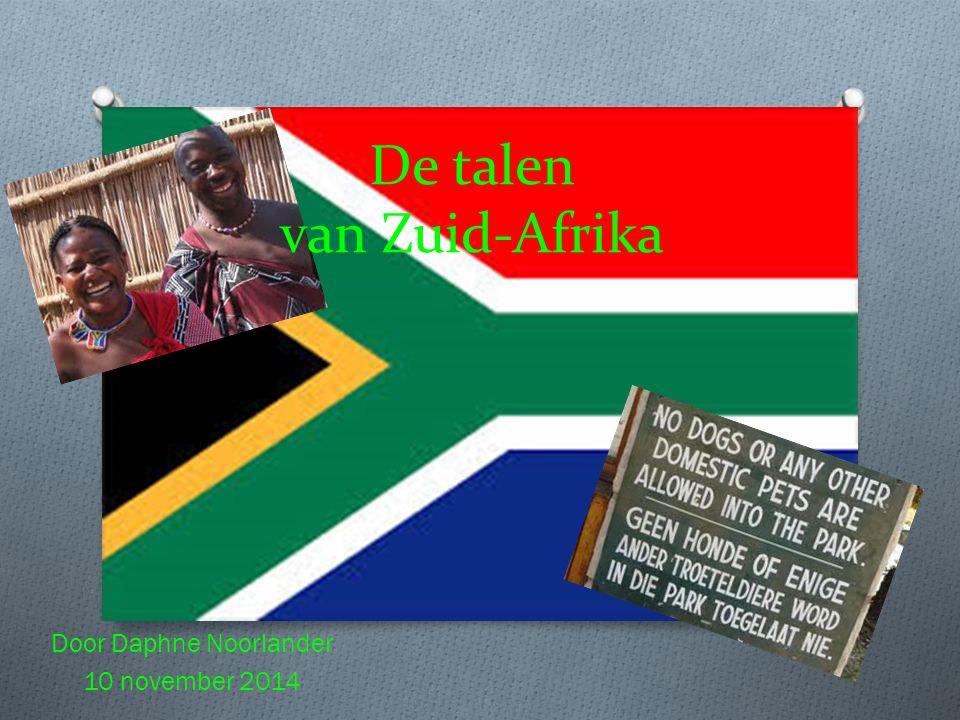 De talen van Zuid-Afrika