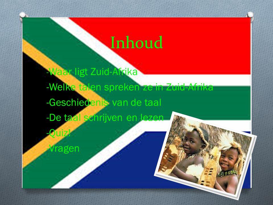 Inhoud -Welke talen spreken ze in Zuid-Afrika