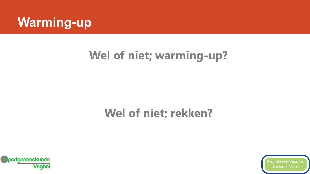 Wel of niet; warming-up Wel of niet; rekken