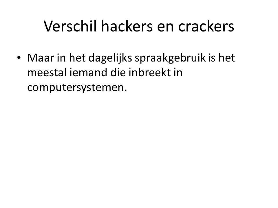 Verschil hackers en crackers