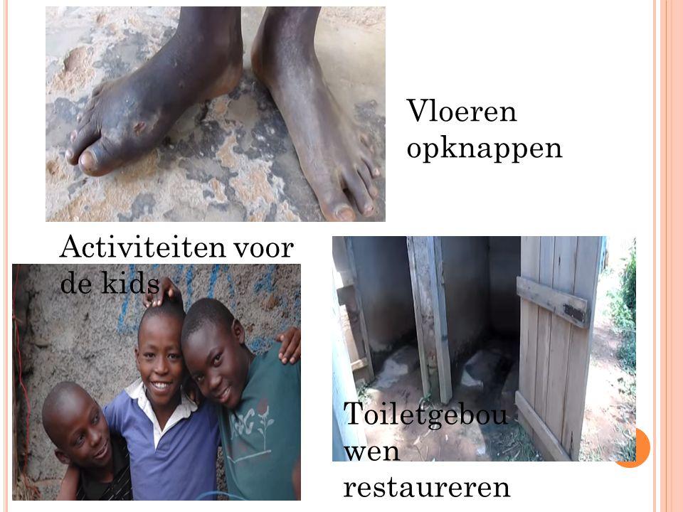 Vloeren opknappen Activiteiten voor de kids Toiletgebouwen restaureren