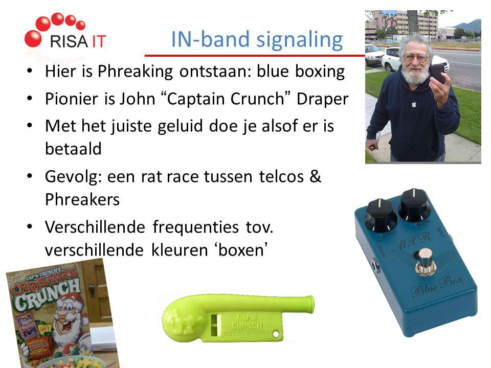 IN-band signaling Hier is Phreaking ontstaan: blue boxing