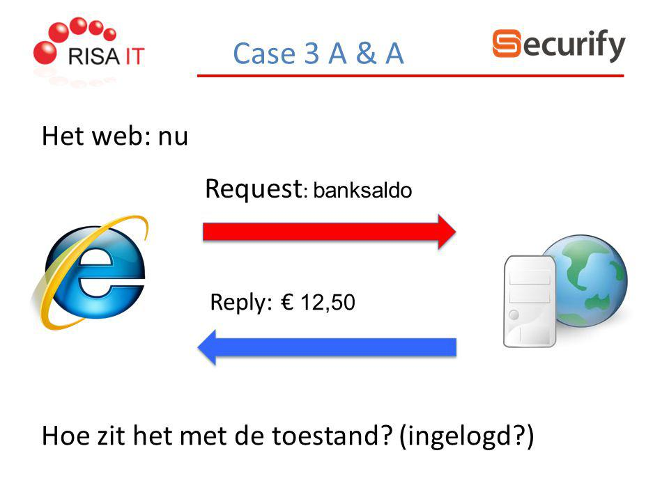 Case 3 A & A Het web: nu Request: banksaldo