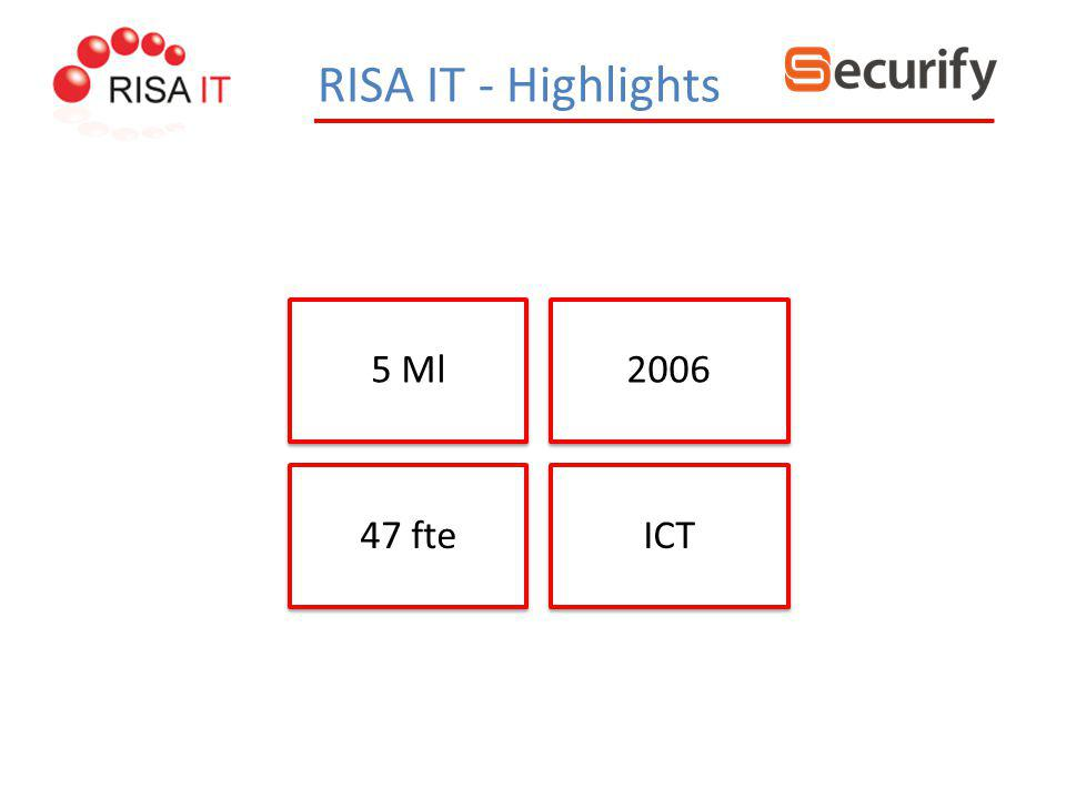 RISA IT - Highlights 5 Ml 2006 47 fte ICT
