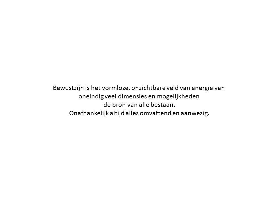Bewustzijn is het vormloze, onzichtbare veld van energie van