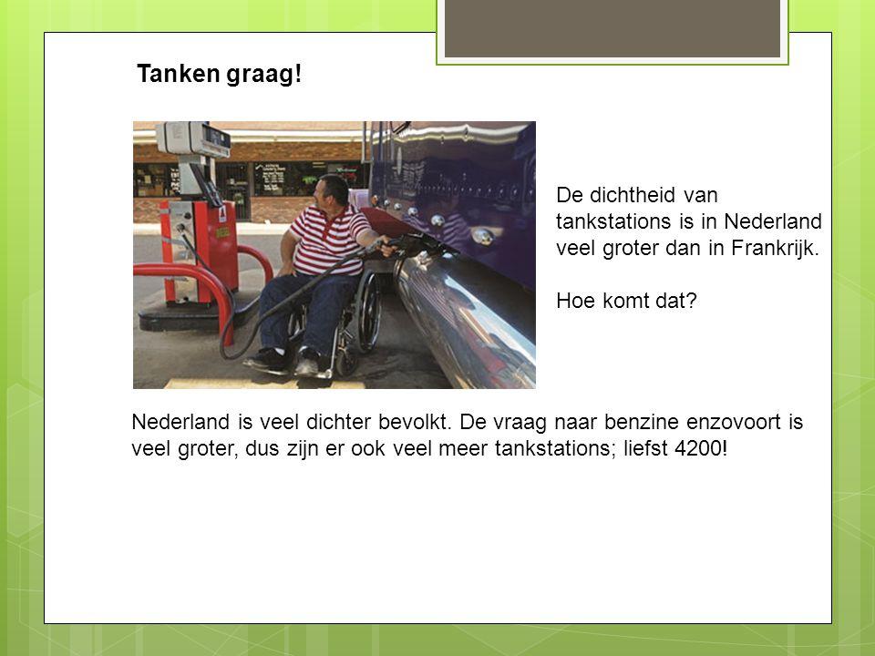 Tanken graag! De dichtheid van tankstations is in Nederland veel groter dan in Frankrijk. Hoe komt dat