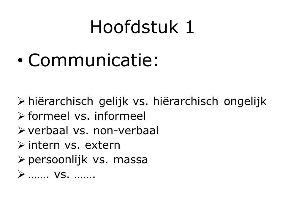 Hoofdstuk 1 Communicatie: