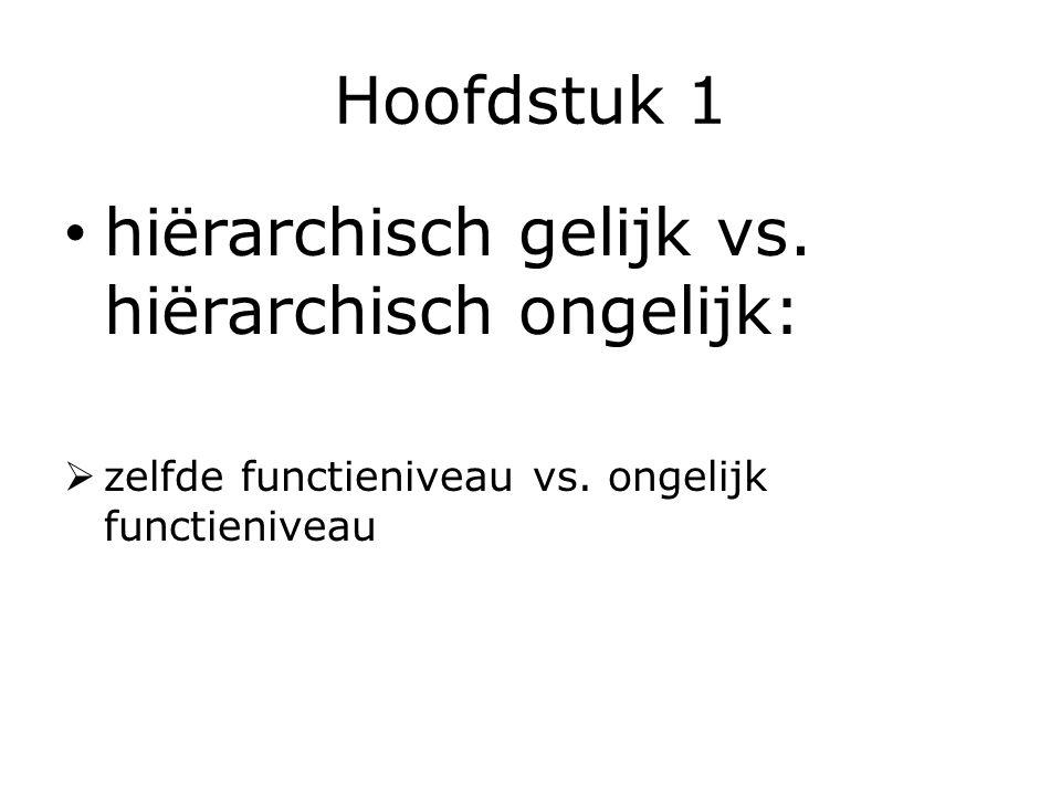 hiërarchisch gelijk vs. hiërarchisch ongelijk: