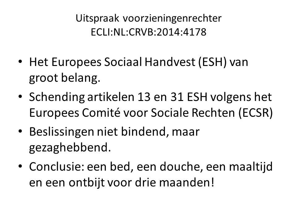 Uitspraak voorzieningenrechter ECLI:NL:CRVB:2014:4178
