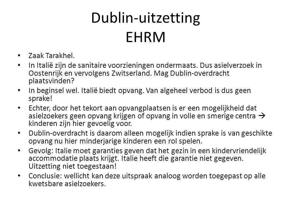 Dublin-uitzetting EHRM