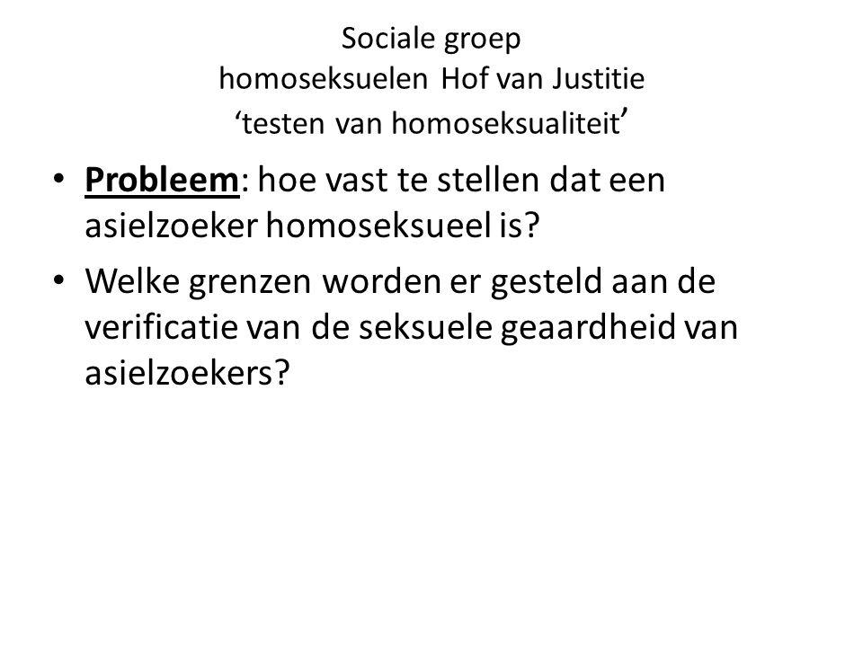 Probleem: hoe vast te stellen dat een asielzoeker homoseksueel is