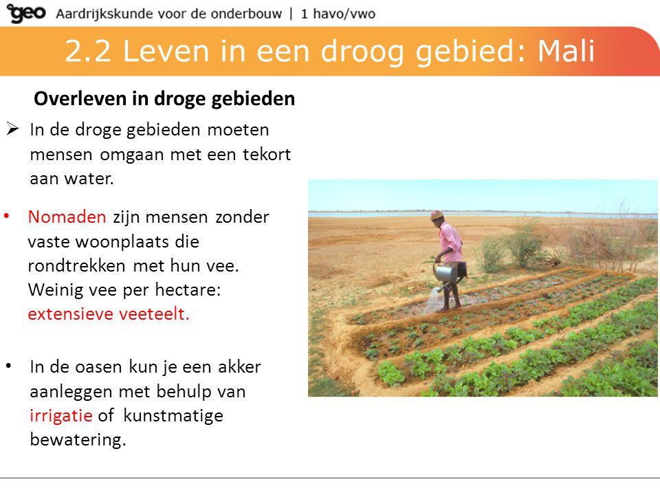 2.2 Leven in een droog gebied: Mali
