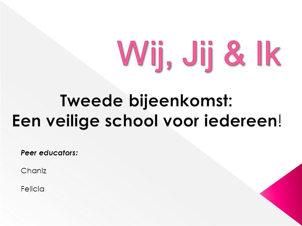 Tweede bijeenkomst: Een veilige school voor iedereen!