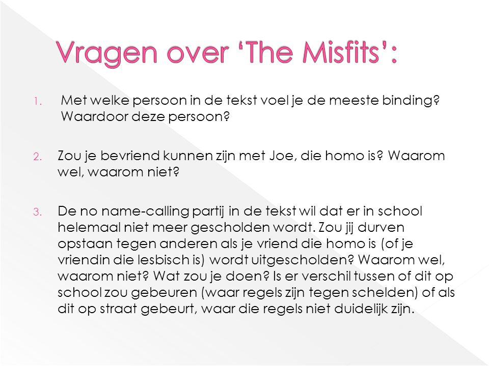 Vragen over 'The Misfits':