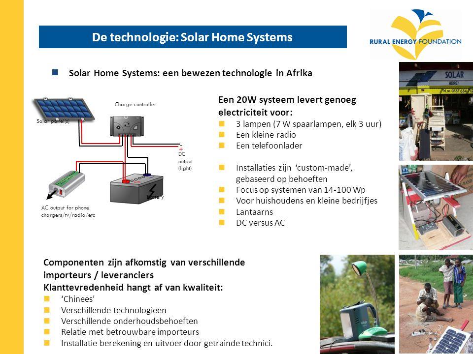 De technologie: Solar Home Systems