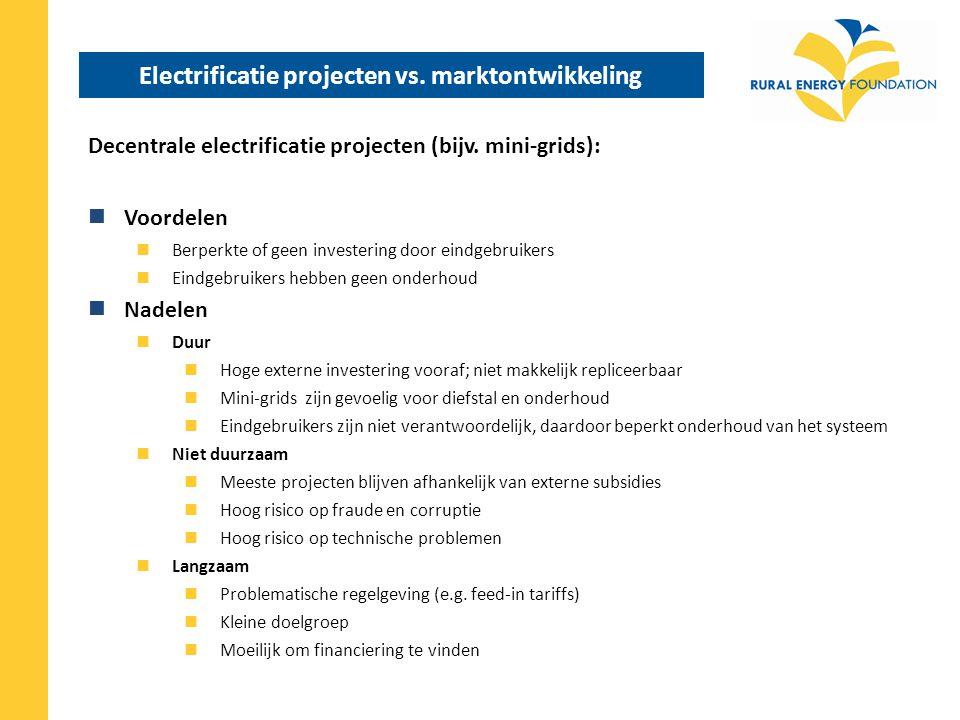 Electrificatie projecten vs. marktontwikkeling