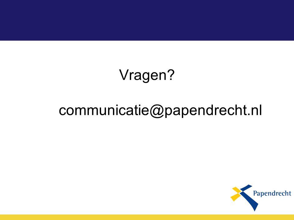 Vragen communicatie@papendrecht.nl