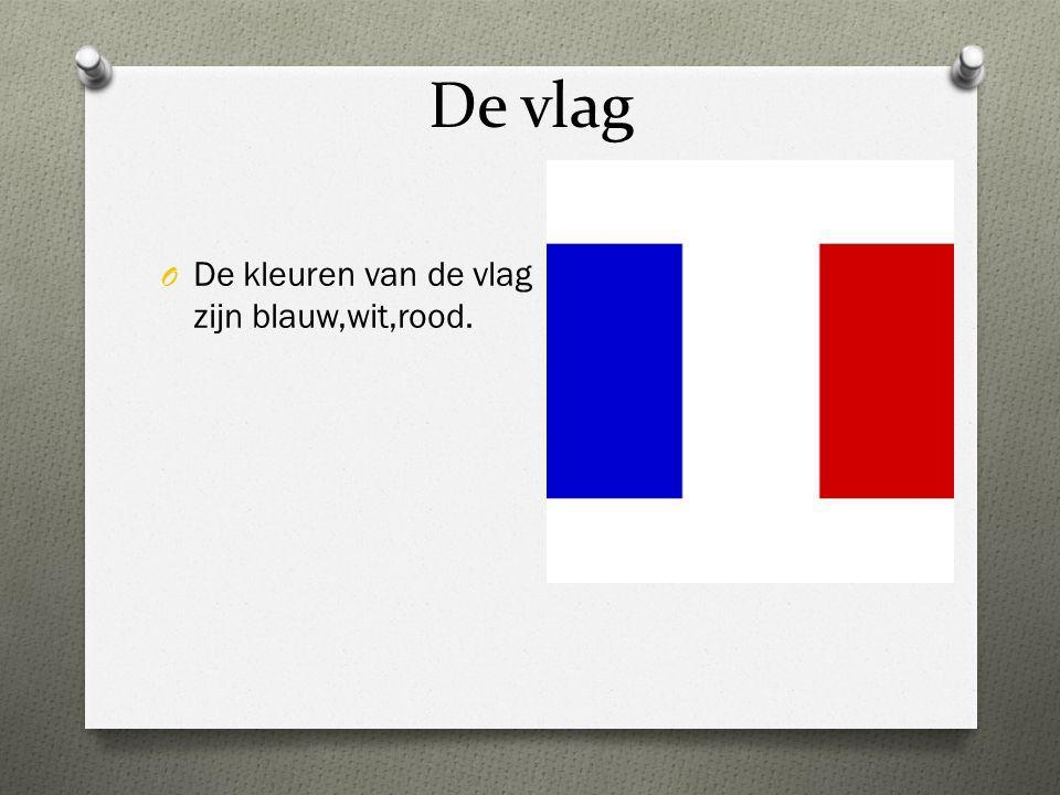 De vlag De kleuren van de vlag zijn blauw,wit,rood.