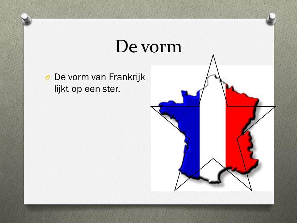 De vorm De vorm van Frankrijk lijkt op een ster.