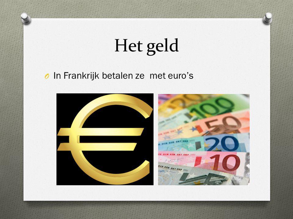 Het geld In Frankrijk betalen ze met euro's