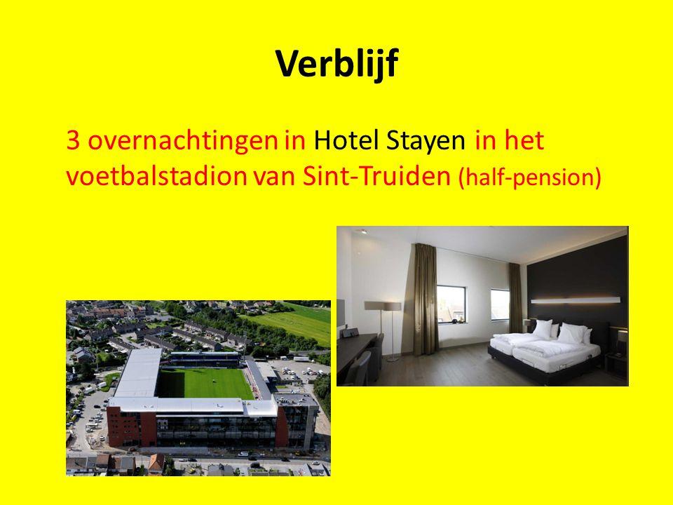 Verblijf 3 overnachtingen in Hotel Stayen in het voetbalstadion van Sint-Truiden (half-pension)
