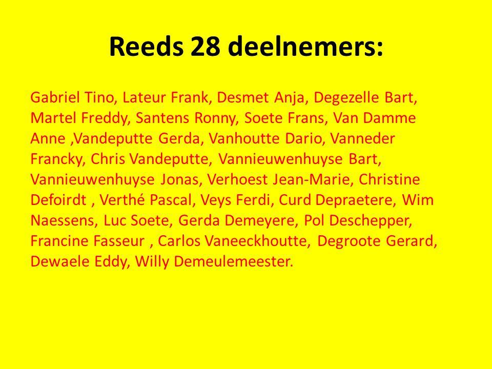 Reeds 28 deelnemers: