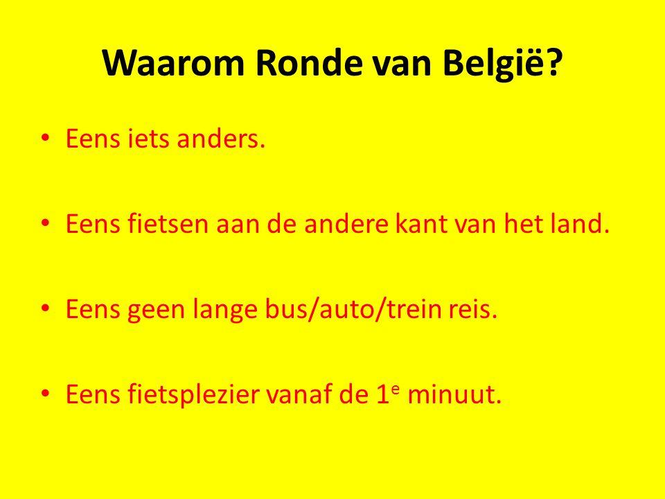 Waarom Ronde van België