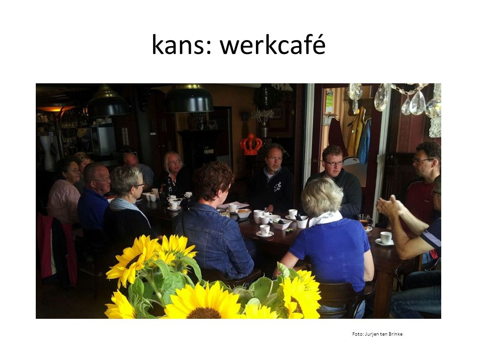 kans: werkcafé Foto: Jurjen ten Brinke