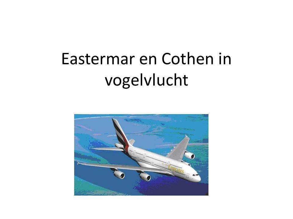 Eastermar en Cothen in vogelvlucht