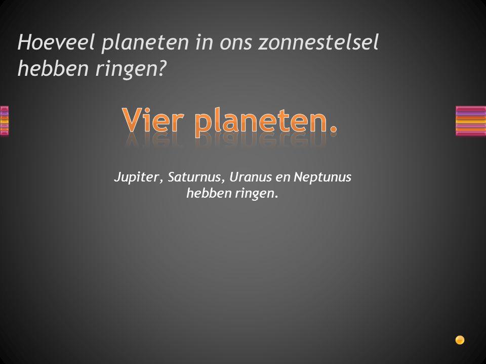 Hoeveel planeten in ons zonnestelsel hebben ringen