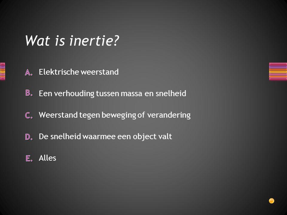 Wat is inertie Elektrische weerstand
