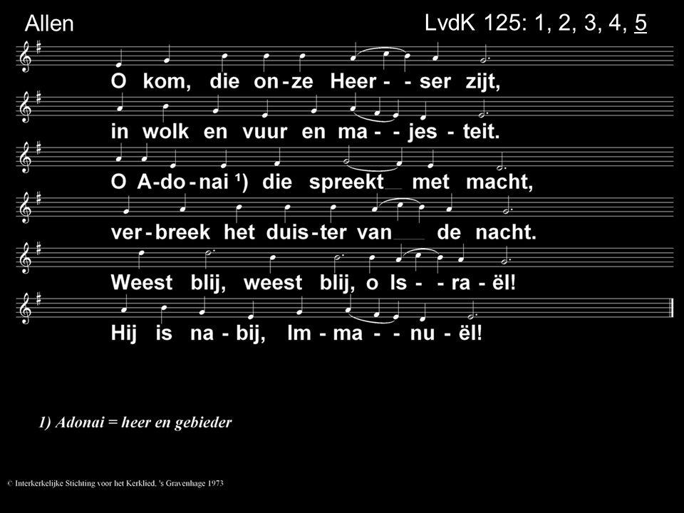 Allen LvdK 125: 1, 2, 3, 4, 5
