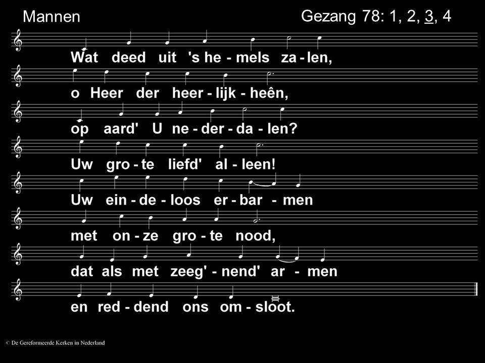 Mannen Gezang 78: 1, 2, 3, 4