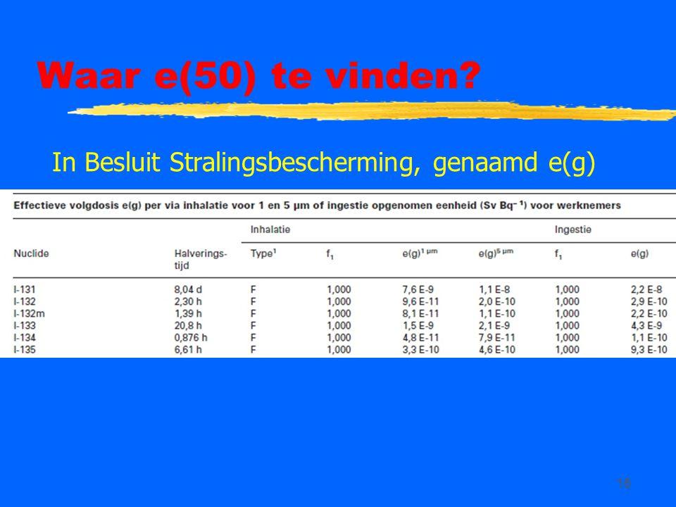 Waar e(50) te vinden In Besluit Stralingsbescherming, genaamd e(g)