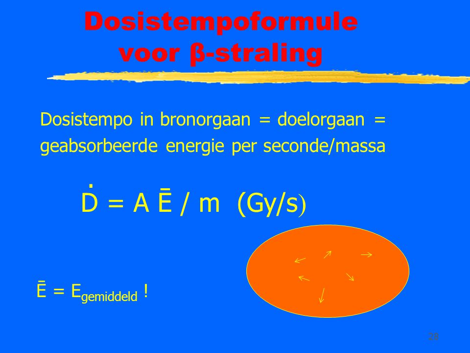 Dosistempoformule voor β-straling