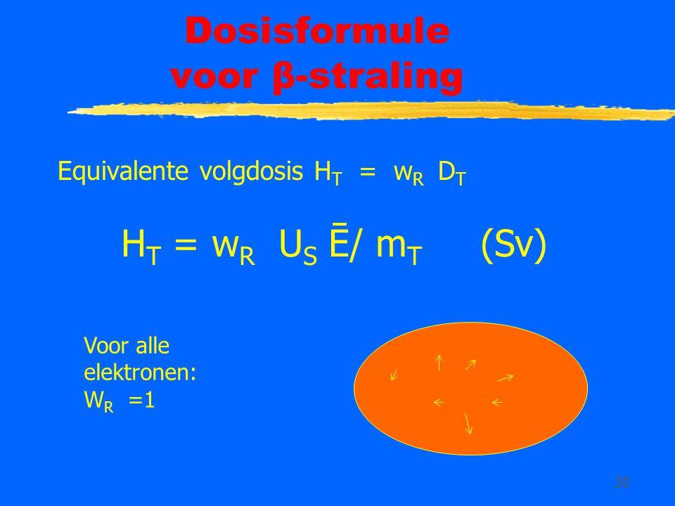Dosisformule voor β-straling
