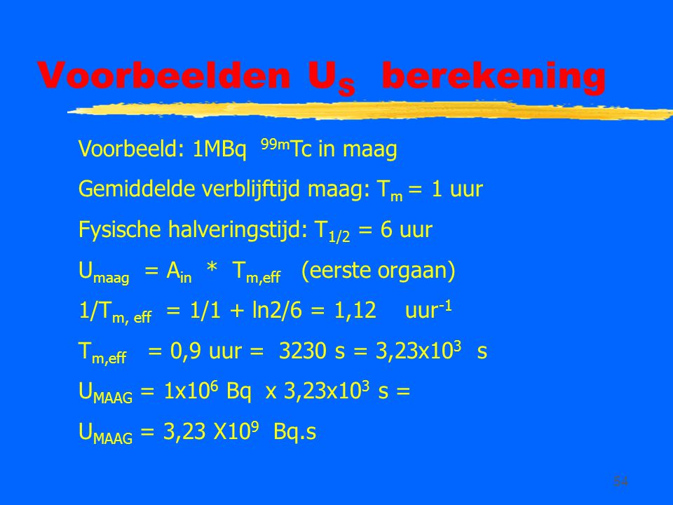 Voorbeelden US berekening