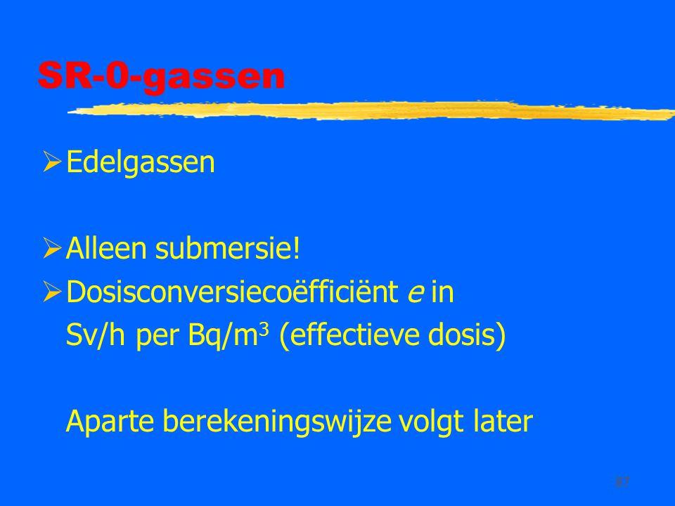 SR-0-gassen Edelgassen Alleen submersie!