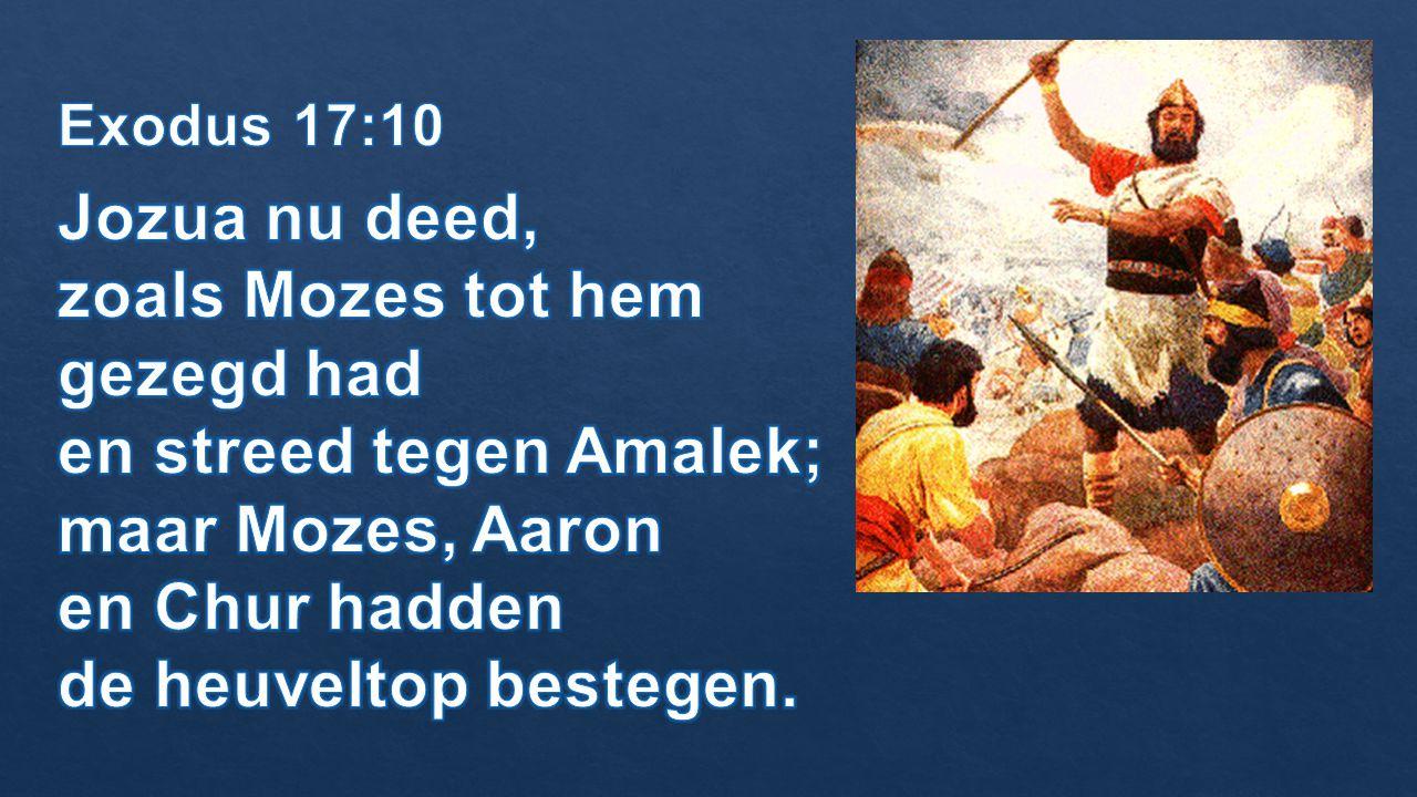 zoals Mozes tot hem gezegd had