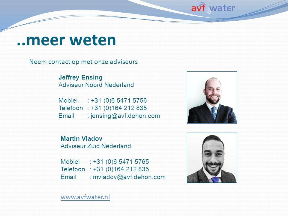 ..meer weten Neem contact op met onze adviseurs www.avfwater.nl