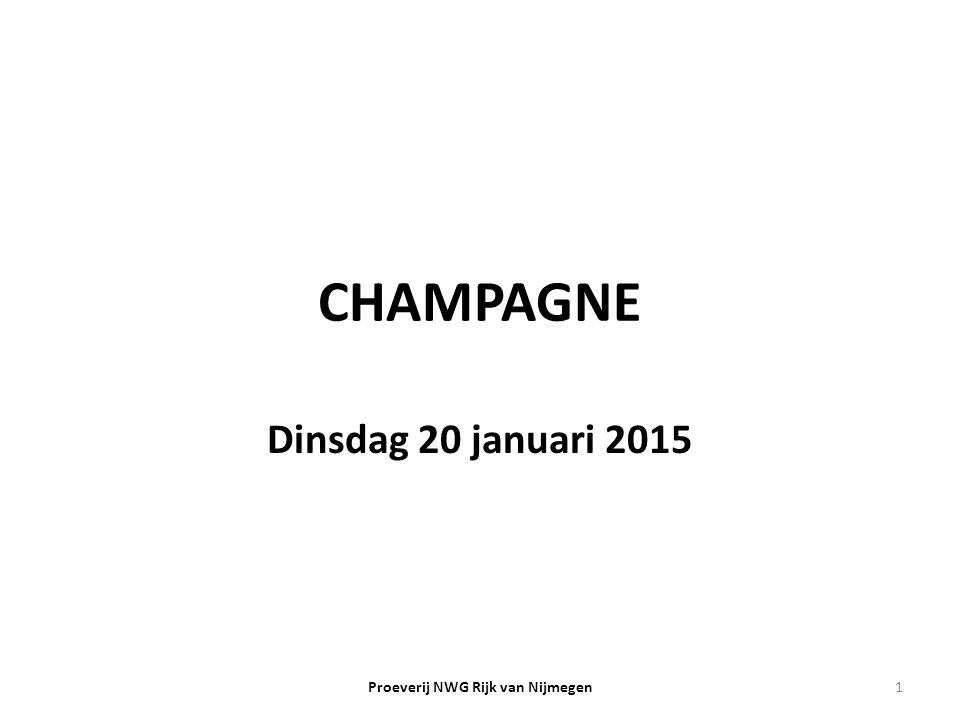 Proeverij NWG Rijk van Nijmegen