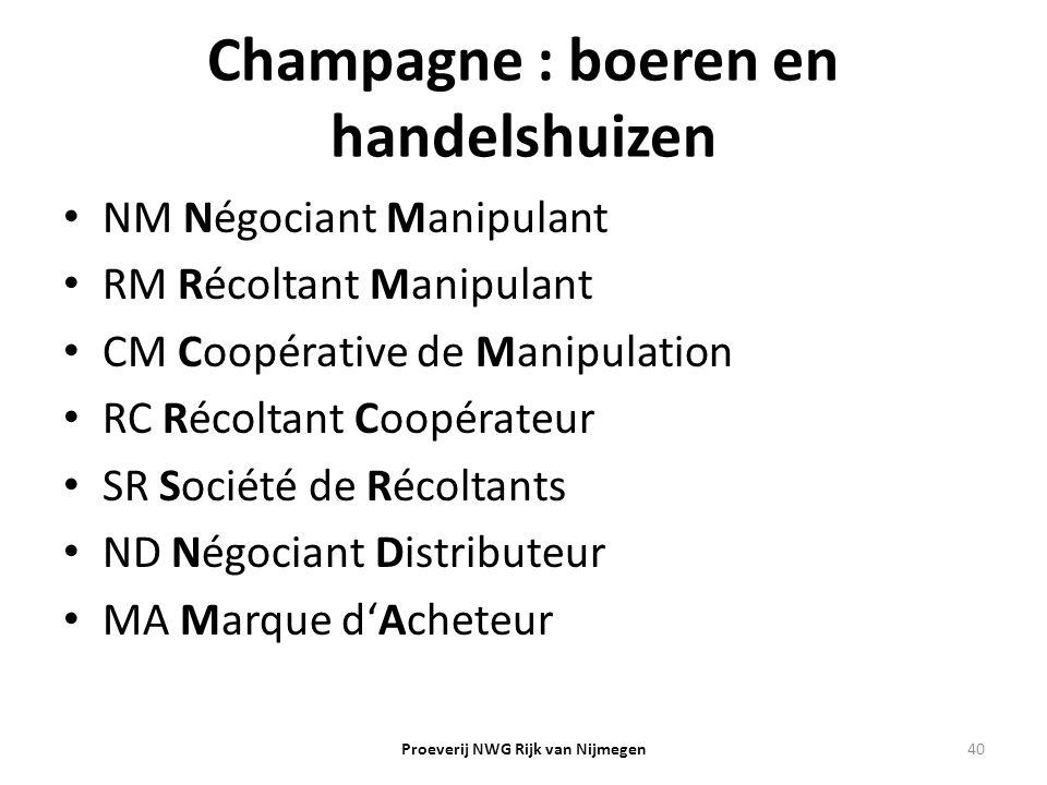 Champagne : boeren en handelshuizen
