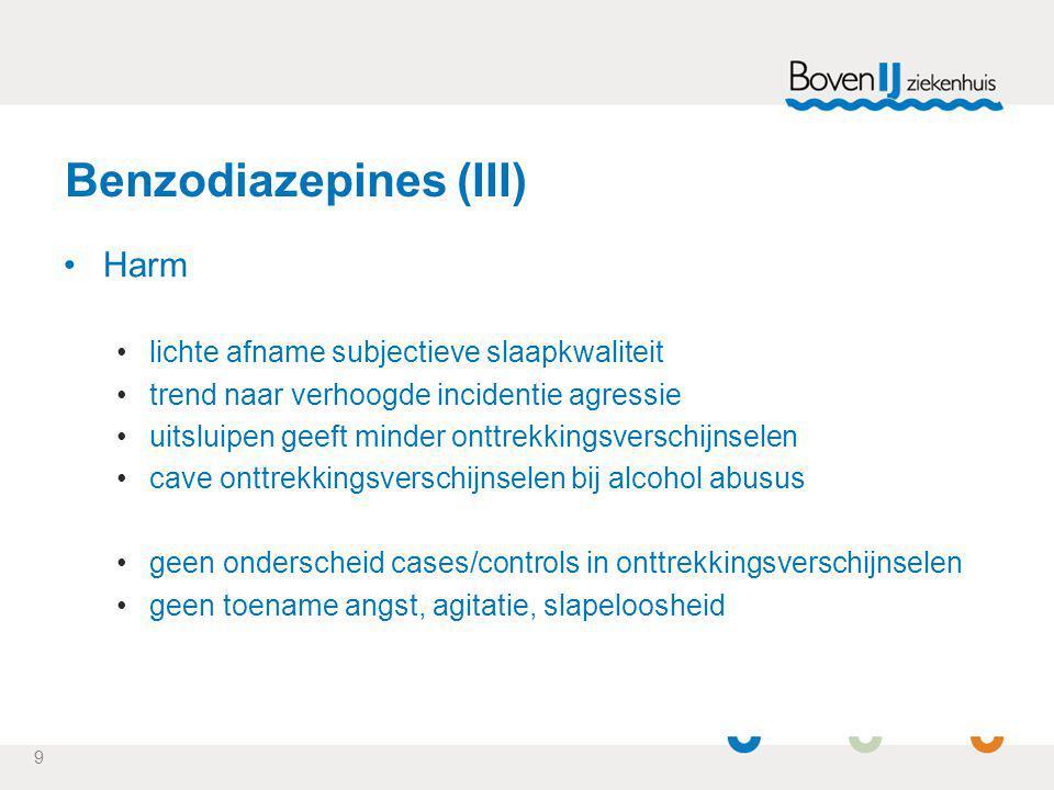 Benzodiazepines (III)