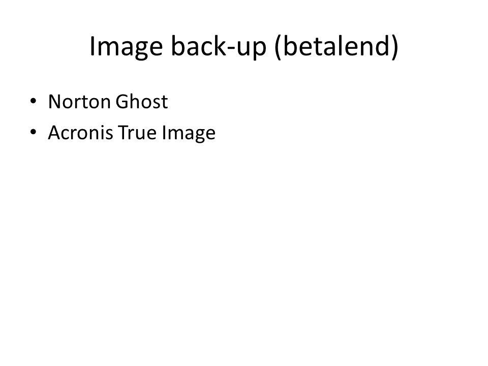 Image back-up (betalend)