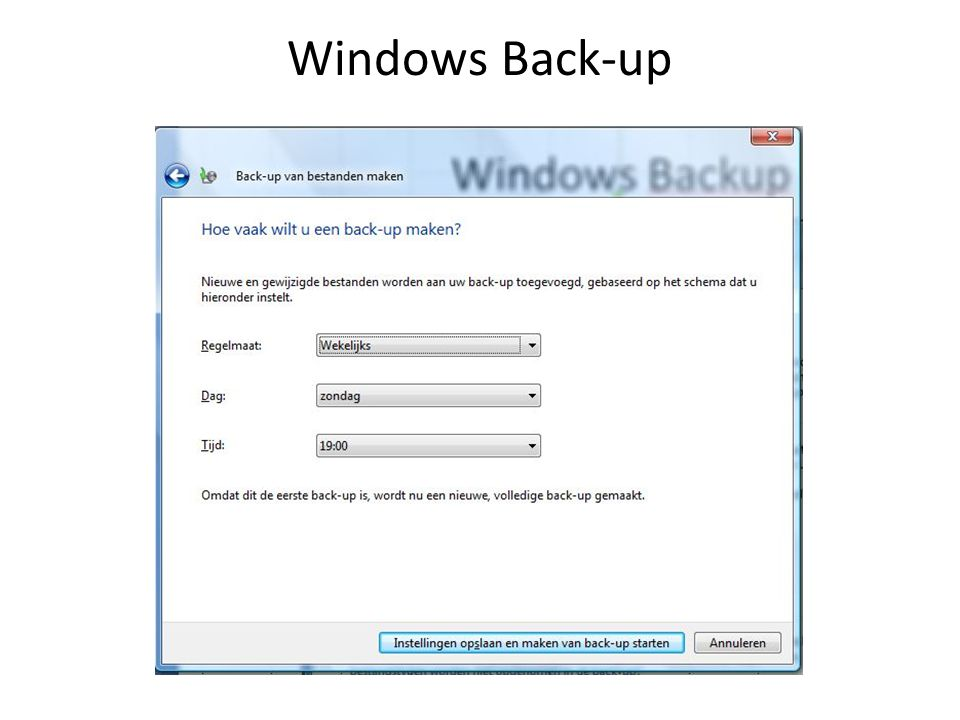 Windows Back-up