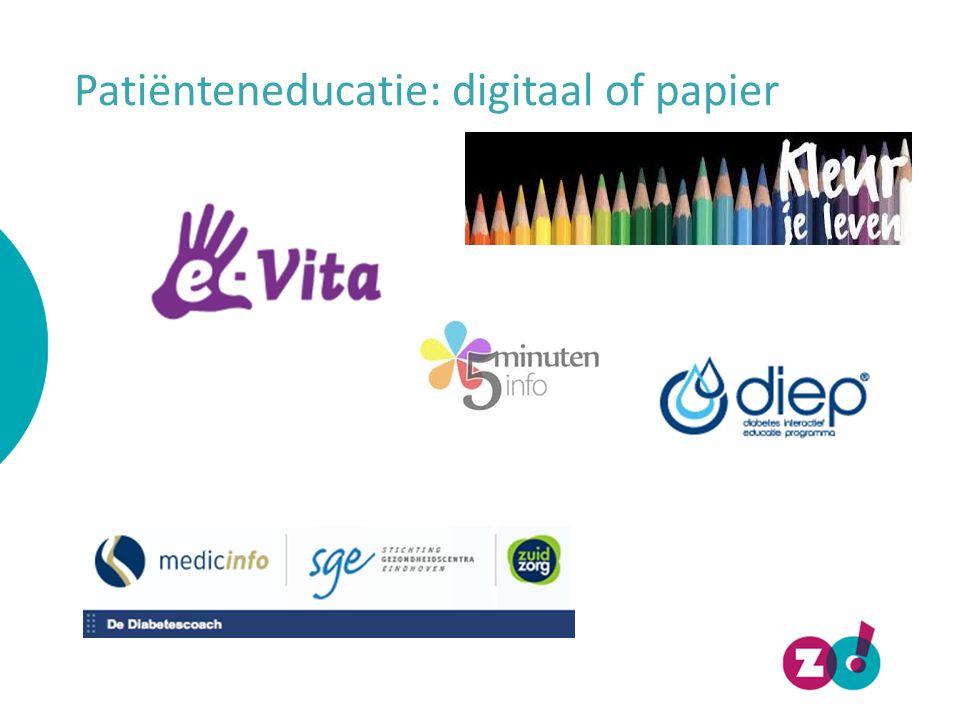 Patiënteneducatie: digitaal of papier