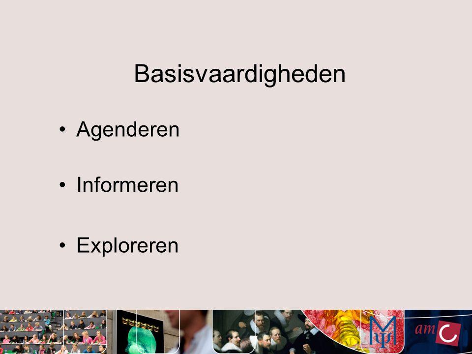Basisvaardigheden Agenderen Informeren Exploreren