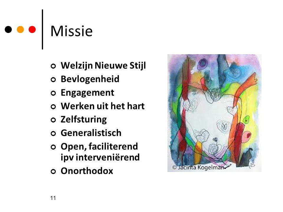 Missie Welzijn Nieuwe Stijl Bevlogenheid Engagement