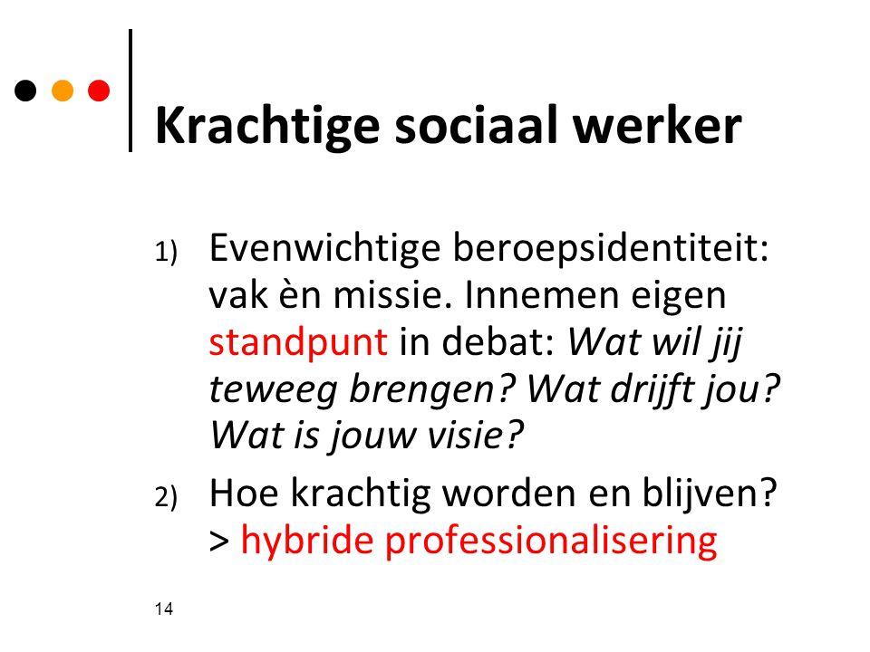 Krachtige sociaal werker
